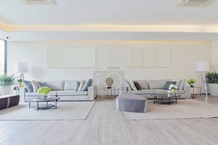 Photo for White luxury modern living interior and decoration, interior design - Royalty Free Image