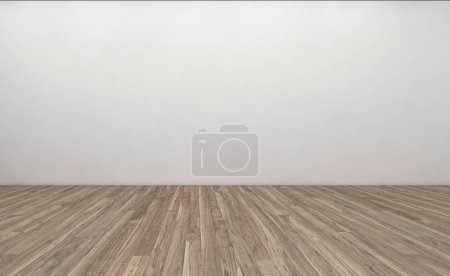 Photo pour Chambre vide moderne, 3d rendu design intérieur, maquette illustration - image libre de droit