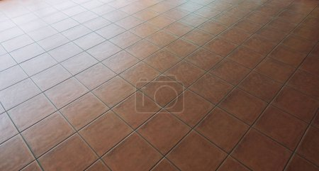 Photo for Red Tile flooring, seamless texture material background - Royalty Free Image