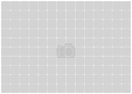 Photo for Curved tile white flooring, seamless texture background, 3d illustration - Royalty Free Image