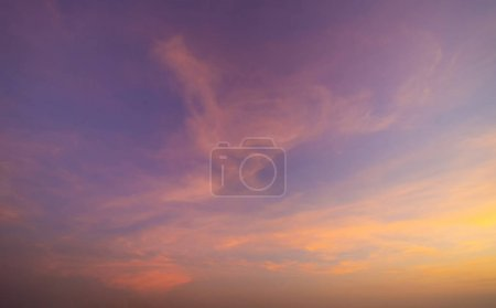 Photo for Sunset sky. Abstract nature background. Dramatic blue and orange, colorful clouds at twilight time. - Royalty Free Image