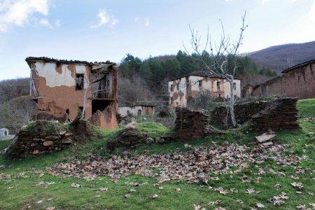 Ruins at abandoned village Kranionas (Drenoveni) n...