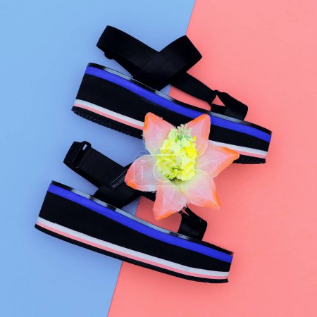 Stylish Summer. Fashion platform shoes