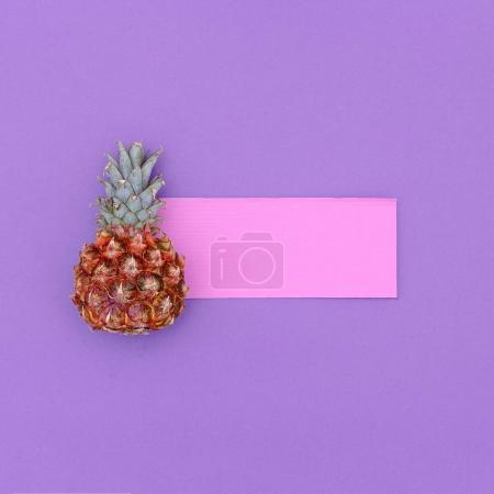 Photo for Mini pineapple fashion Minimal art design Candy Colors - Royalty Free Image