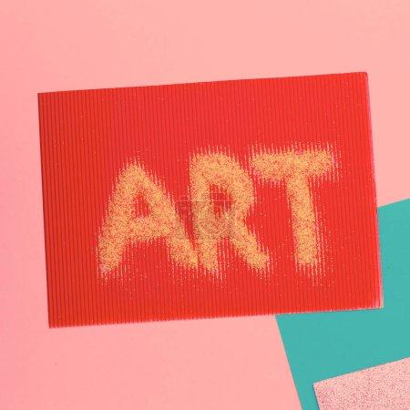 Photo pour Texte des paillettes. Art Minimal - image libre de droit