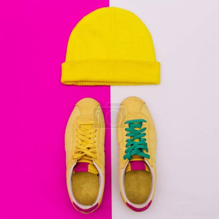Sneakers and hat. Style Minimal