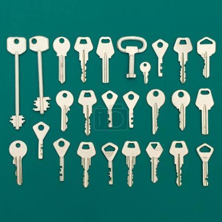 Keys set. Minimal art style