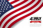 Vector illustration design of USA flag pattern background