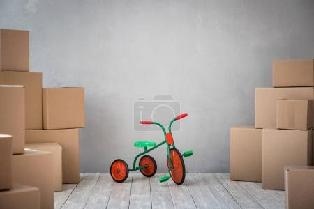 New Home Moving Day Concept
