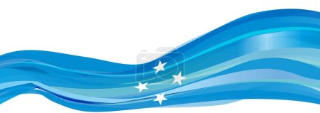 Light blue Flag of the Federated States of Microne...