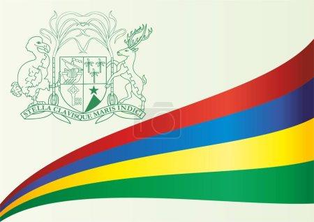 Flag of Mauritius, Republic of Mauritius. Bright, colorful vector illustration