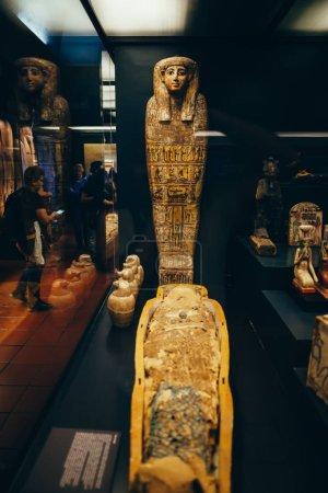 Egyptian mummy and sarcophagus