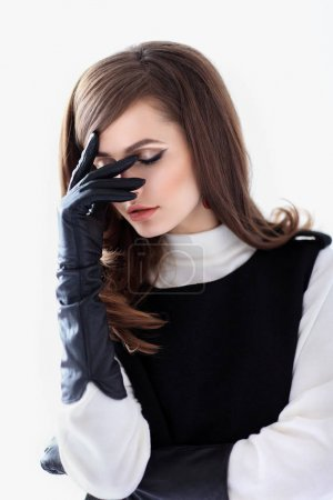 shy beautiful woman