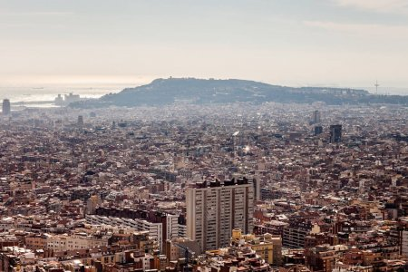 Scenic view of Barcelona city