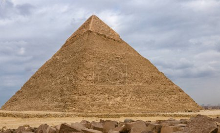 Egyptian pyramids in of Giza, Egypt. Travel concept