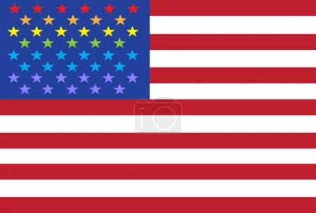 Vector lgbt flag background. type of sexual minorities in usa