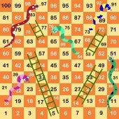 Ladder snakes gameFunny frame for children