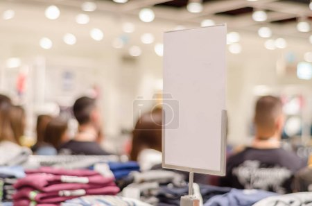 Photo for Lot of people waiting in line at the store for the sale and purchase - Royalty Free Image