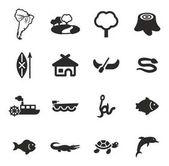 Amazon Rainforest Icons