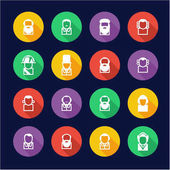 Avatar Icons Historical Figures Flat Design Circle
