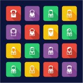 Avatar Icons Famous Scientists Flat Design