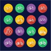 Bicycle Icons Flat Design Circle