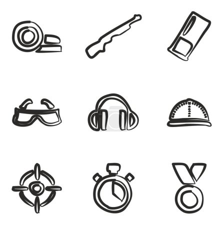 Clay Shooting Icons Freehand