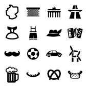 Germany Icons Black & White