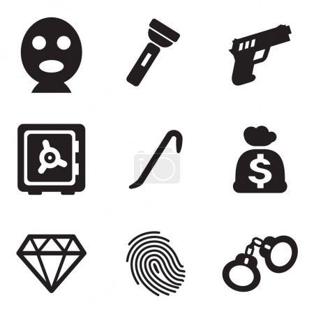 Thief Icons Black & White