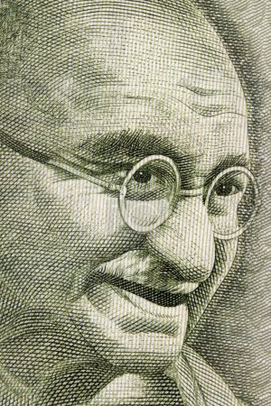 Махатма Ганди портрет на 500