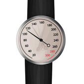 Blood pressure monitor Vector image of an aneroid mechanical sphygmomanometer with a dial