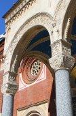 Facade of Saint Eufemia church in Milan