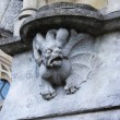 Medieval basrelief with gargoyle in Dublin, Irelan...