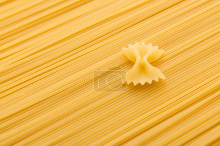 Photo for Close up view of raw macaroni and vermicelli italian pasta - Royalty Free Image