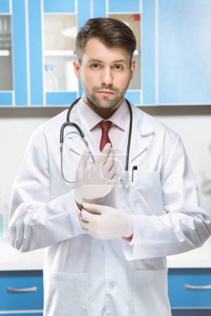 Doctor in medical uniform