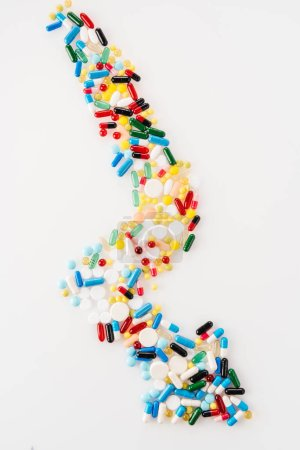 Arrow made of medical pills