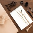 Постер, плакат: Bamboo drawing in album
