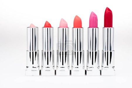 Set of fashionable lipsticks