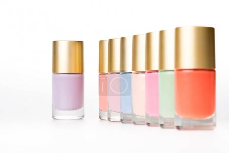 colorful nail polishes