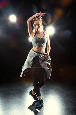 dancing sporty woman