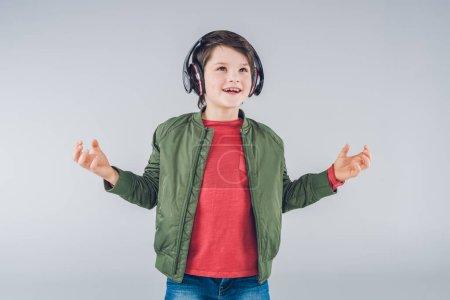 Cute boy with headphones