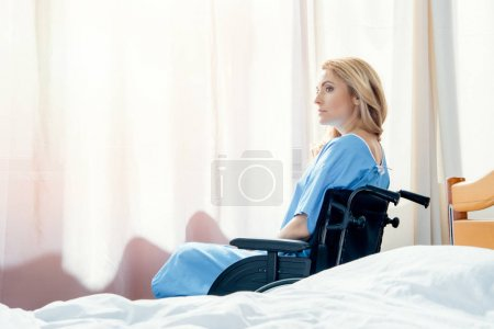 wheelchair woman in hospital