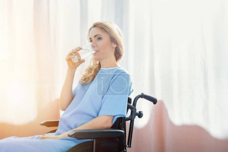 wheelchair woman in hospital