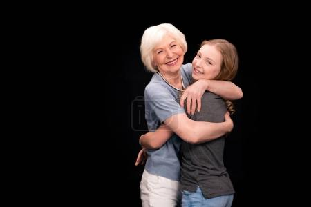 grandmother with teenage granddaughter