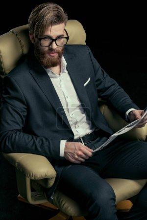 Stylish businessman with eyeglasses