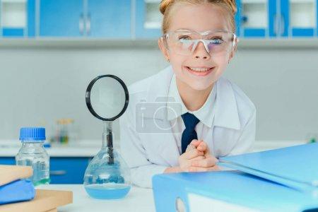 Little scientist in lab