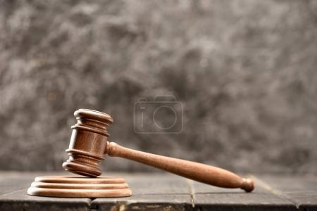 Wooden mallet of judge