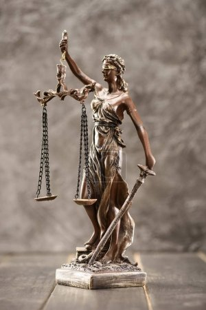 Photo for Close-up view of antique statue of lady justice, Law concept - Royalty Free Image