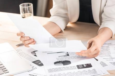 Businesswoman with contract documents