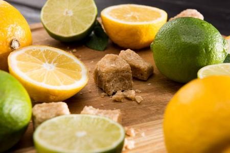 citrons et limes de cassonade